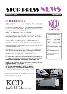 Latest news from KCD Logistics